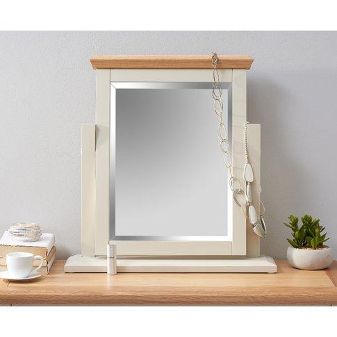 Abel Oak And Stone Painted Trinket Mirror