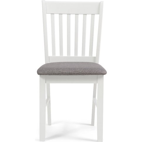 Amalfi Oak And White Dining Chairs With Grey Fabric ...