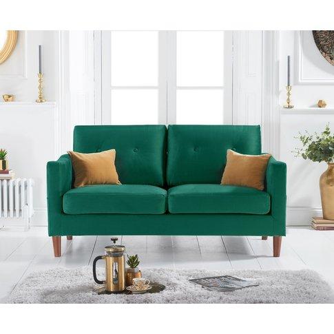 Carla Green Velvet 2 Seater Sofa
