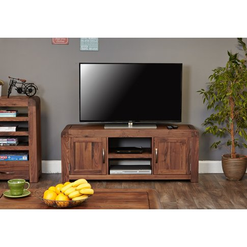 Nishio Solid Walnut Widescreen Tv Cabinet
