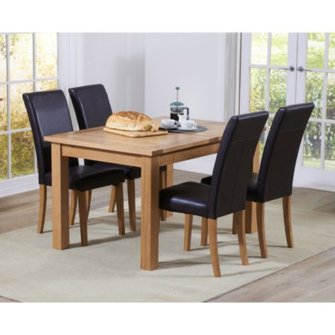 Cheadle 130cm Oak Extending Dining Table with Albany...