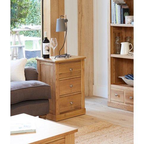 Rhone Solid Oak Three Drawer Side Table