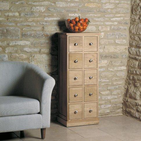 Rhone Solid Oak Multi-Drawer Storage Chest