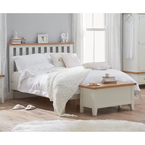 Eden Oak And White King Size Bed
