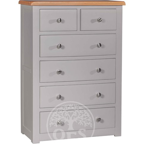 Devonshire Diamond Painted 2 Over 4 Drawer Chest