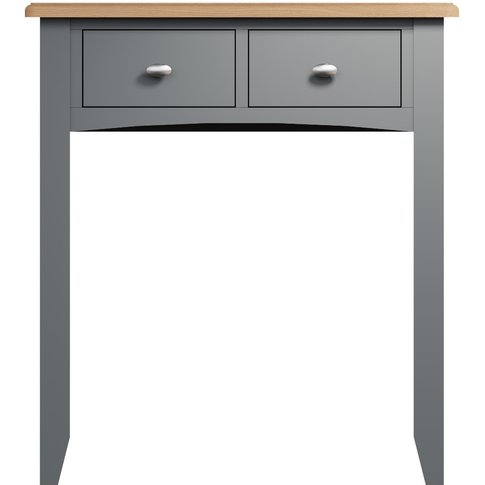 Arlia Oak And Grey Dressing Table