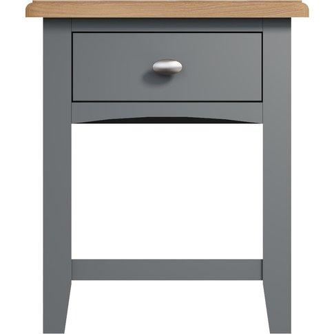 Arlia Oak And Grey Side Table