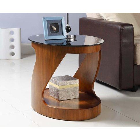 Corsair Walnut Oval Side Table