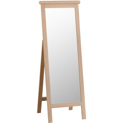 Rose Oak Cheval Mirror