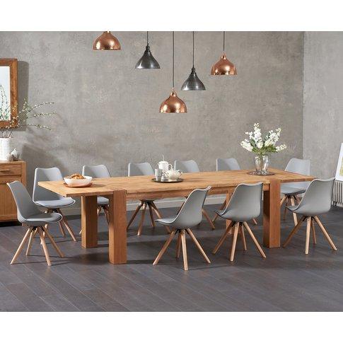 Madrid 200cm Oak Extending Dining Table With Oscar F...