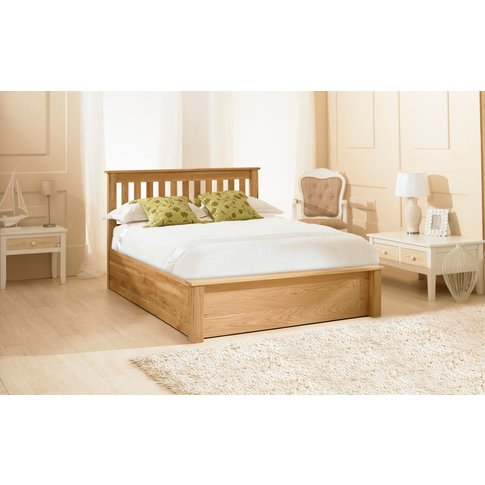 Monaco Solid Oak Ottoman Bed