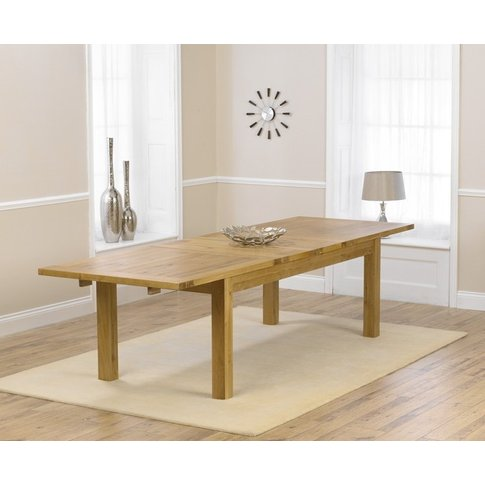 Normandy 220cm Oak Extending Dining Table