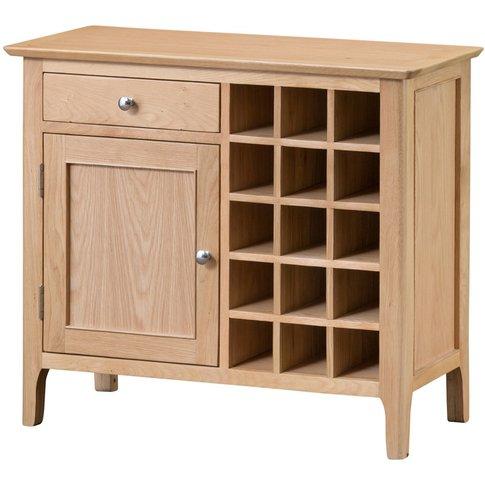 Sadie Oak Wine Cabinet