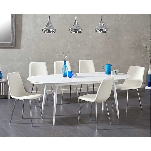 Ex-Display Olivia Extending White High Gloss Dining ...