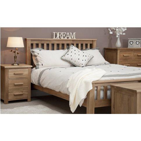 Rohan Oak King Size Bed