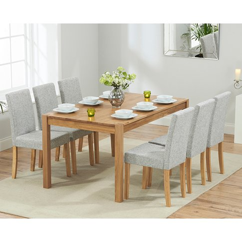 Oxford 150cm Solid Oak Dining Table With Mia Fabric ...