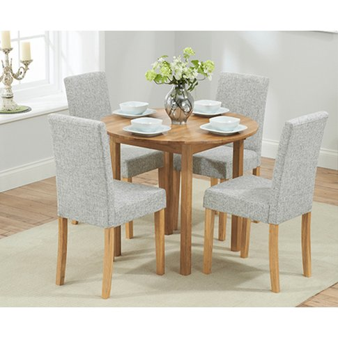 Oxford 90cm Solid Oak Extending Dining Table With Mi...