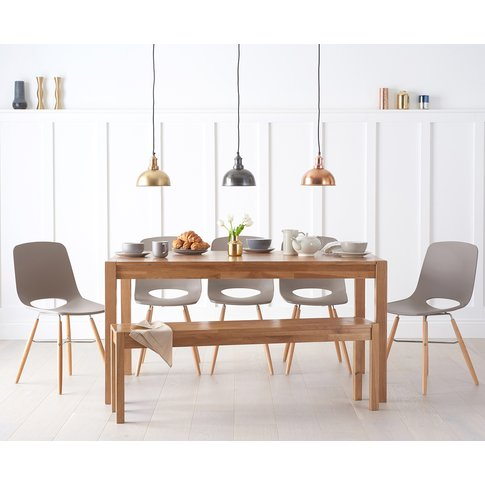 Oxford 150cm Solid Oak Dining Table with Nordic Wood...