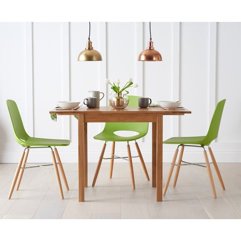 Oxford 70cm Solid Oak Extending Dining Table With Wi...