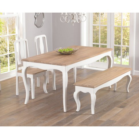 Parisian 175cm Shabby Chic Dining Table With Chairs ...