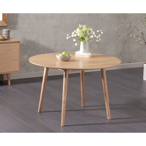 Nordic 120cm Round Oak Dining Table