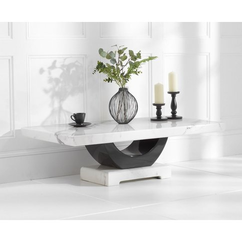 Raphael White Marble Coffee Table