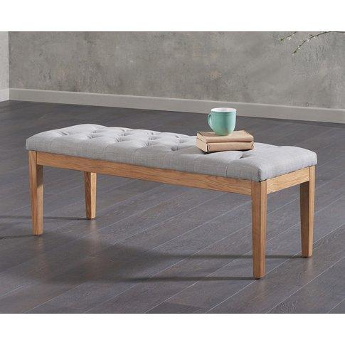 Camille Medium Grey Fabric Bench