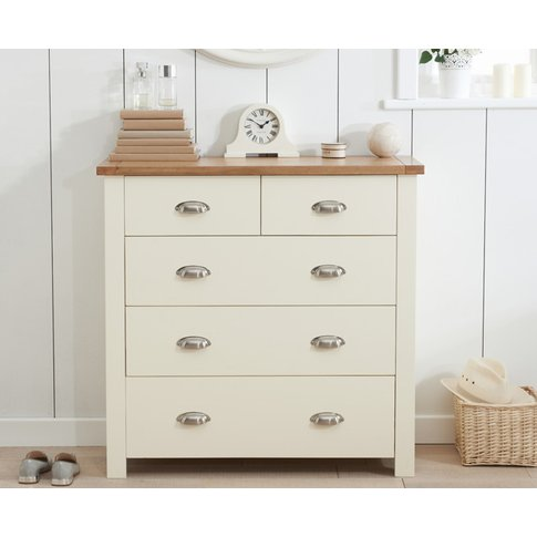 Somerset Oak And Cream 2 Over 3 Drawer Chest