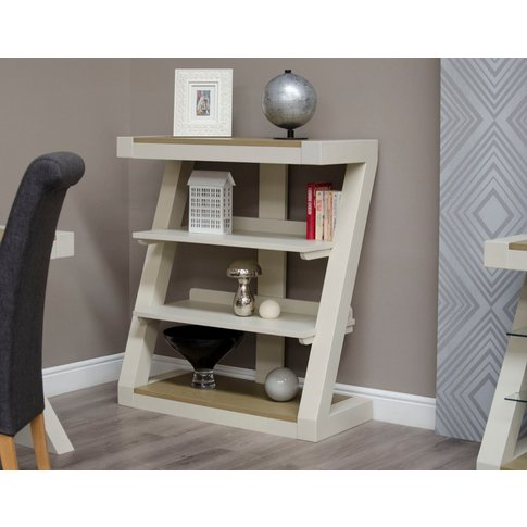 Infinity Painted Smoke Top Small Bookcase