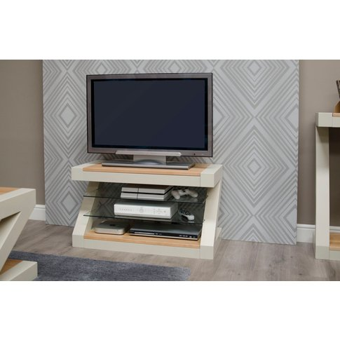Infinity Painted Natural Top Tv Cabinet