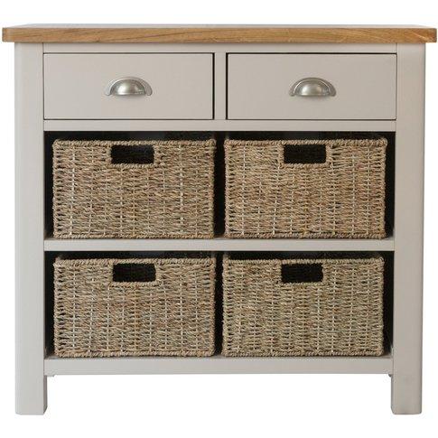 Cole Oak And Grey 6 Drawer Storage Unit
