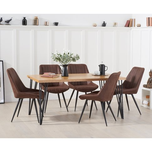 Retiro 160cm Dining Table With Marcel Antique Chairs