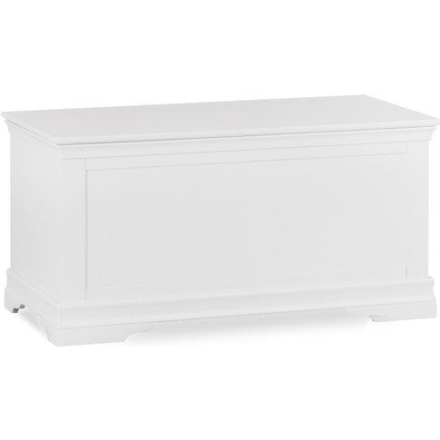 Brooklyn White Blanket Box