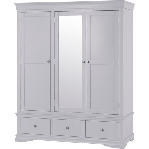 Simone Grey 3 Door Wardrobe