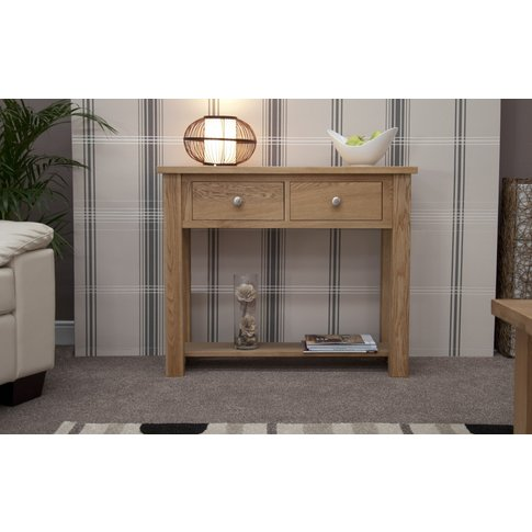 Messina Oak Console Table