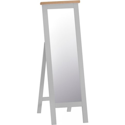Willow Oak And Grey Cheval Mirror