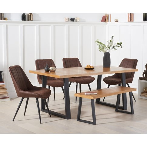 Urban 180cm Dining Table With Marcel Antique Chairs ...