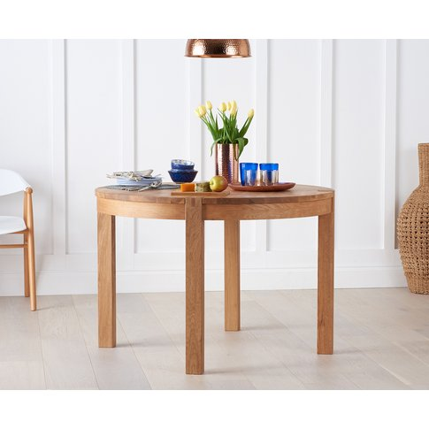Verona 110cm Oak Round Dining Table