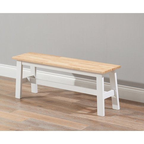 Chiltern Large White And Oak Bench