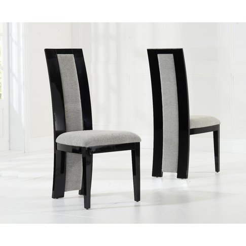 Raphael Black Solid Wood Dining Chairs