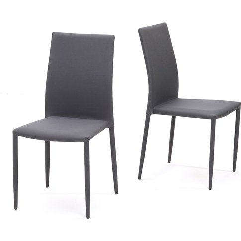 Atlanta Charcoal Grey Stackable Fabric Dining Chairs