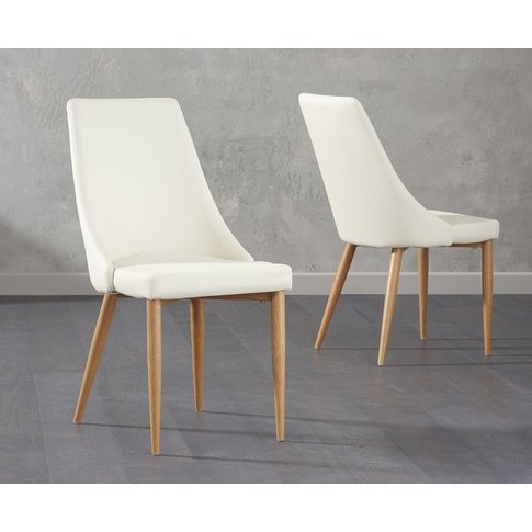 Ashford Cream Faux Leather Dining Chairs