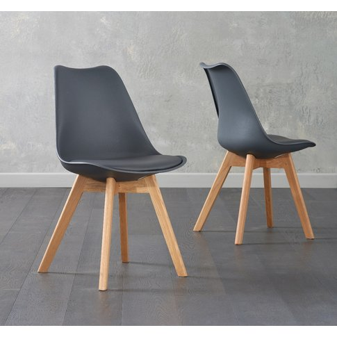 Duke Dark Grey Faux Leather Dining Chairs