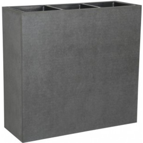 90cm High Concrete Planter with Three Sections
