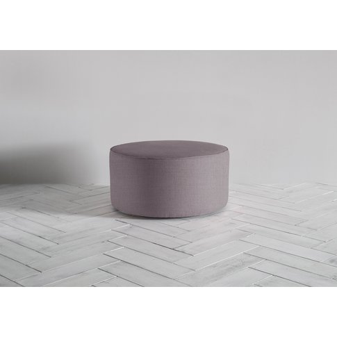 Lucy Footstool In Damson In Distress