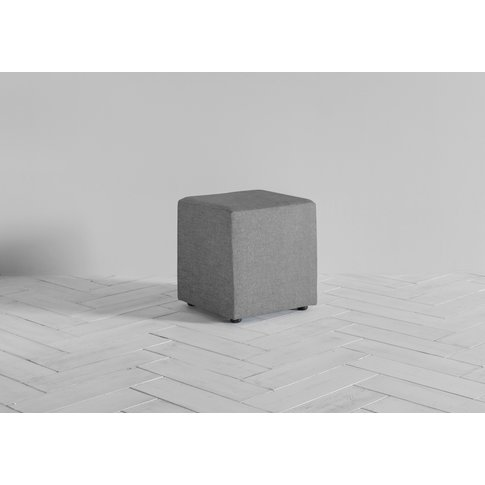 Arnold Footstool In Direwolf Grey