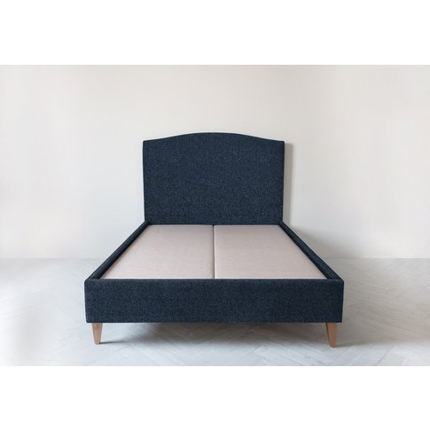 Astor 4'6'' Double Size Bed Frame In Deep Blue Yonder
