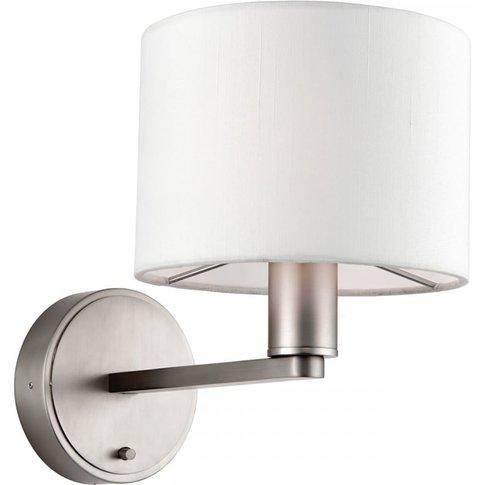 Jonah Nickel Wall Lamp With Silk Shade