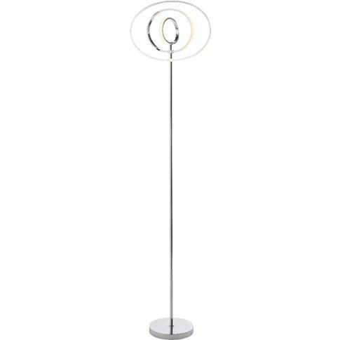 Vasilios Floor Lamp In Chrome & White