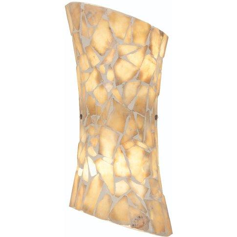 Aegeus Stone Mosaic Wall Light